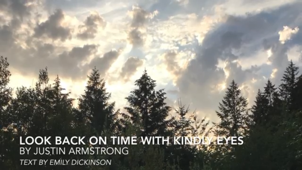 Look back on time with kindly eyes