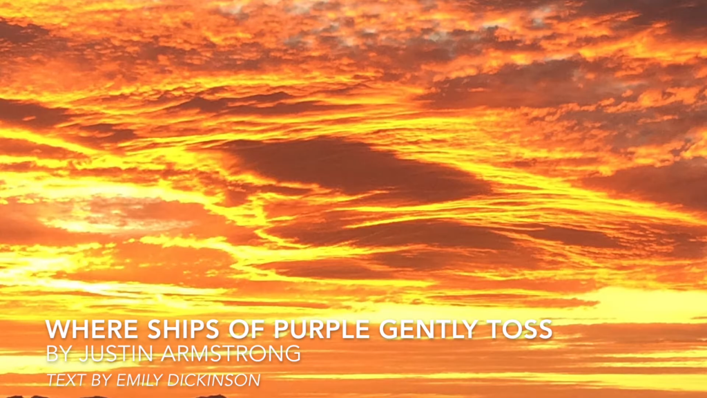 Where Ships of Purple Gently Toss