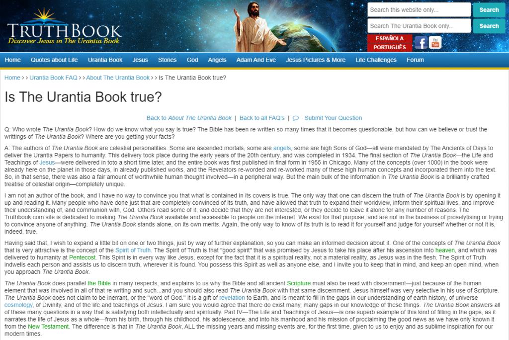 Is The Urantia Book True
